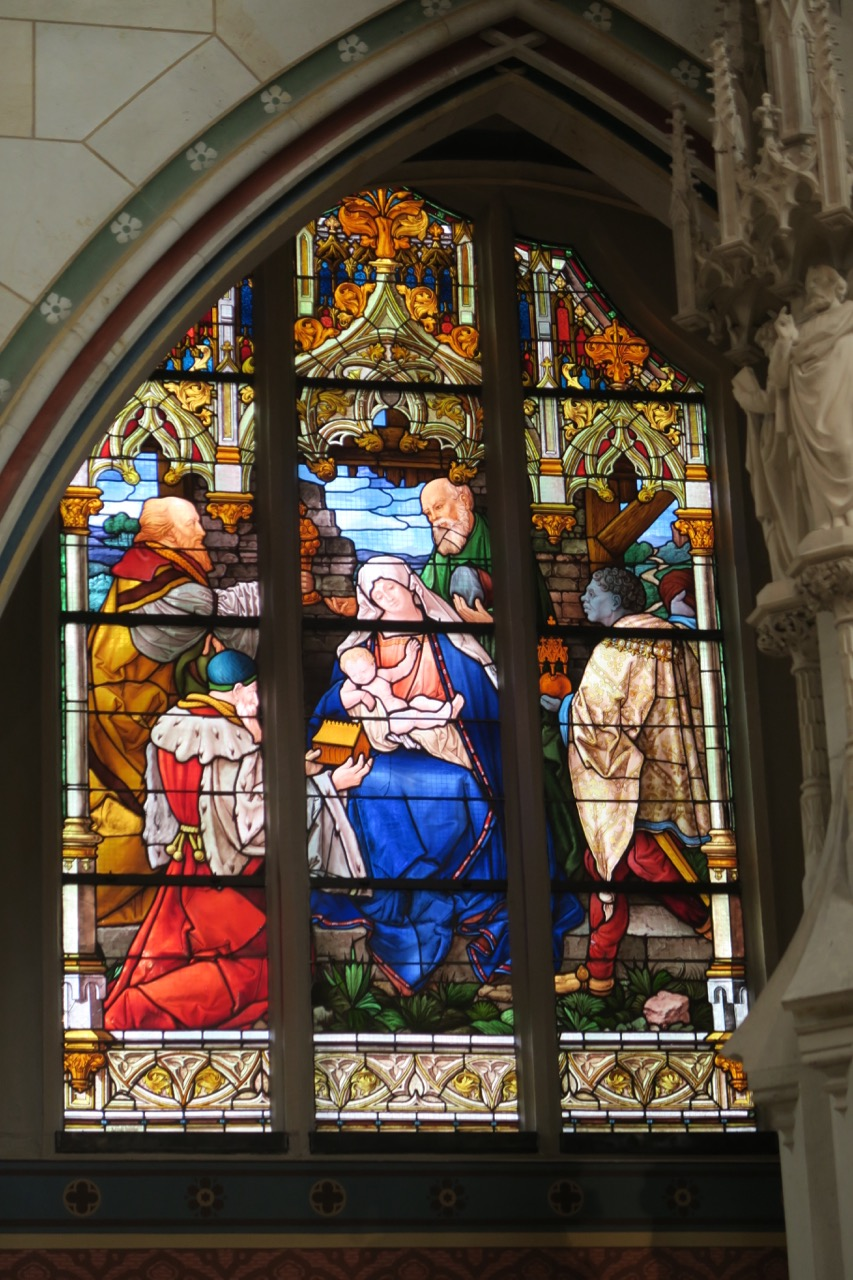 """Chorfenster """"Heilige Drei Könige"""" (Willy Döring, Moritz Ehrlich, 1891)"""