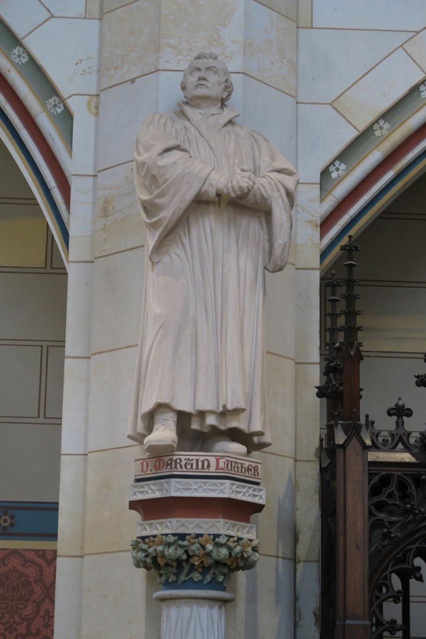 Kalksteinstatue von Martin Luther (Reisch, 1890)