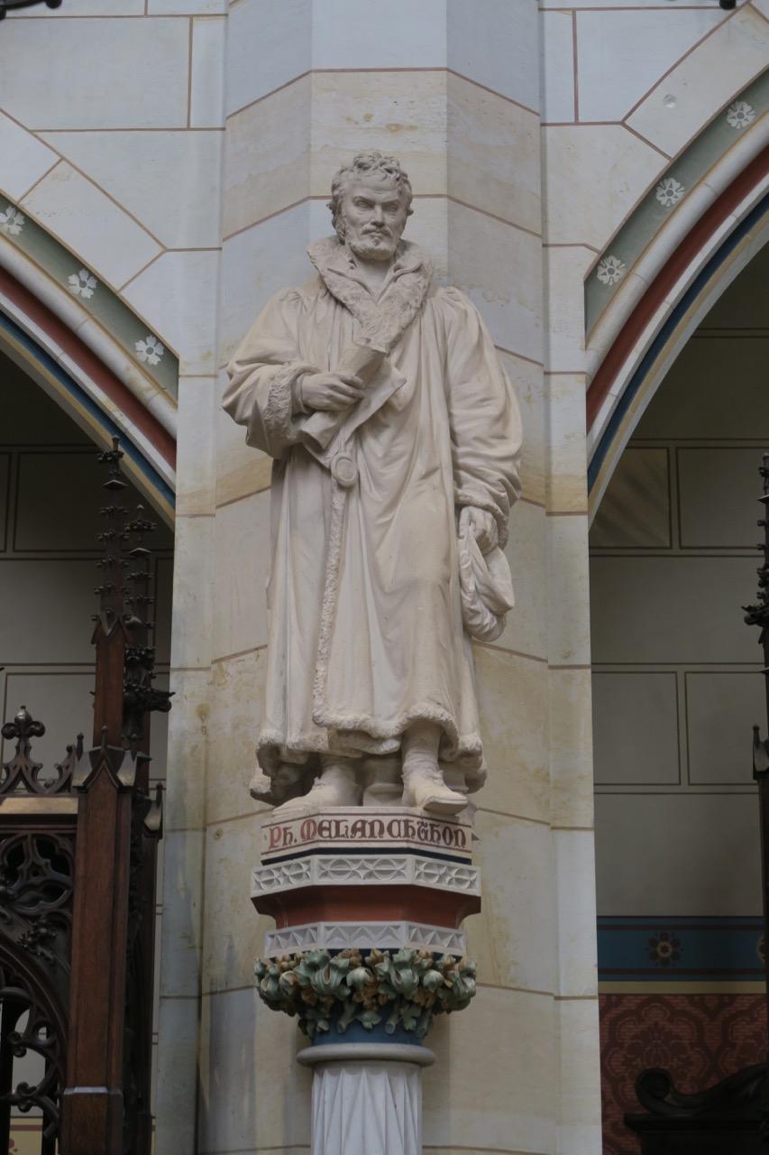 Kalksteinstatue von Philipp Melanchthon (Geyer, 1890)