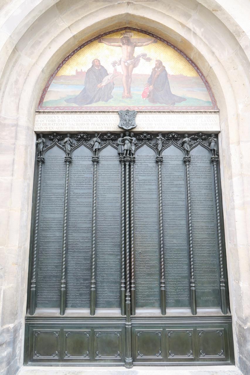Thesentür in der Nordwand der Schlosskirche (Ferdinand v. Quast, 1858)