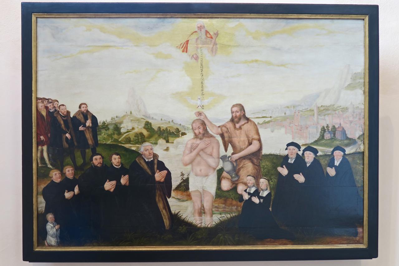 Taufe Christi (1560), Epitaph für Johannes Bugenhagen