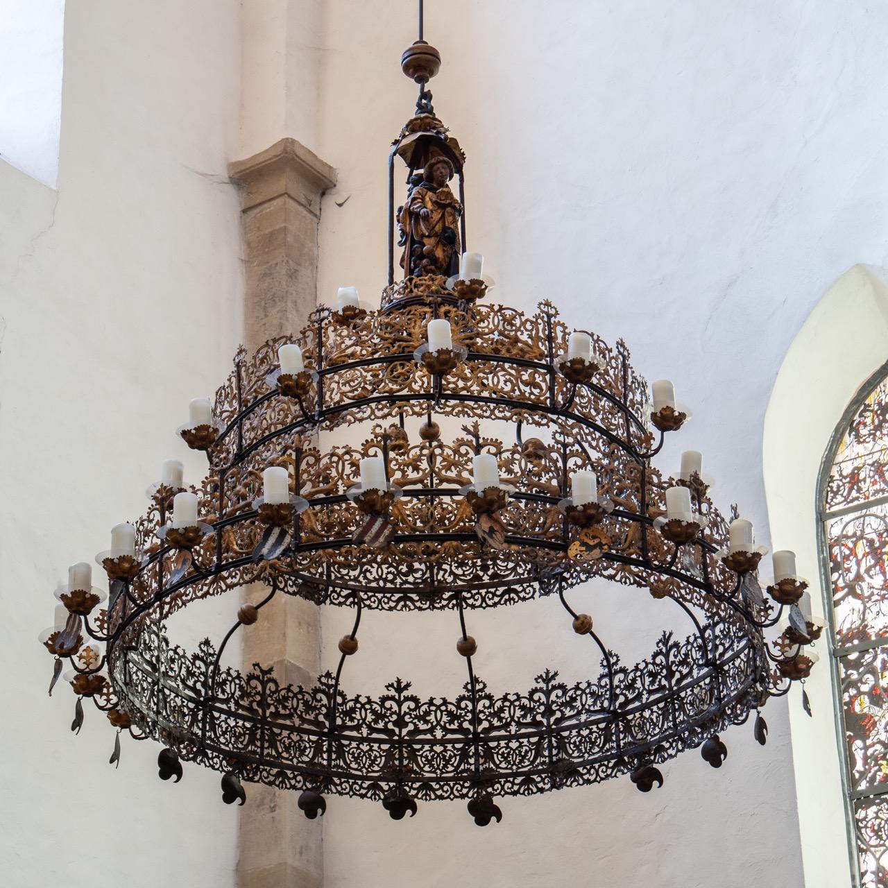 Spätgotischer Radleuchter (um 1500)