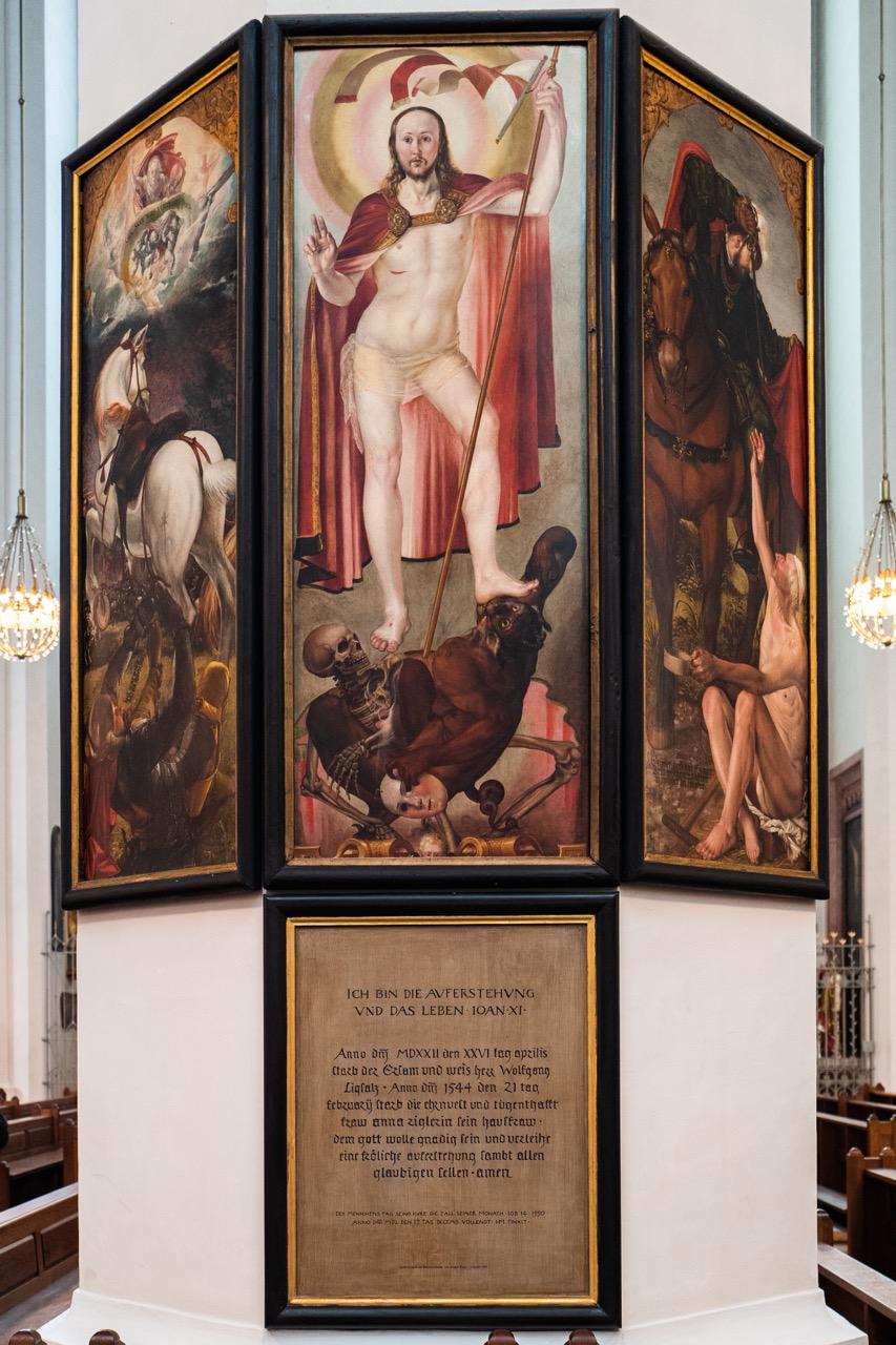 Epitaph des Wolfgang Ligsalz († 1522; Hans Mielich, 1550)