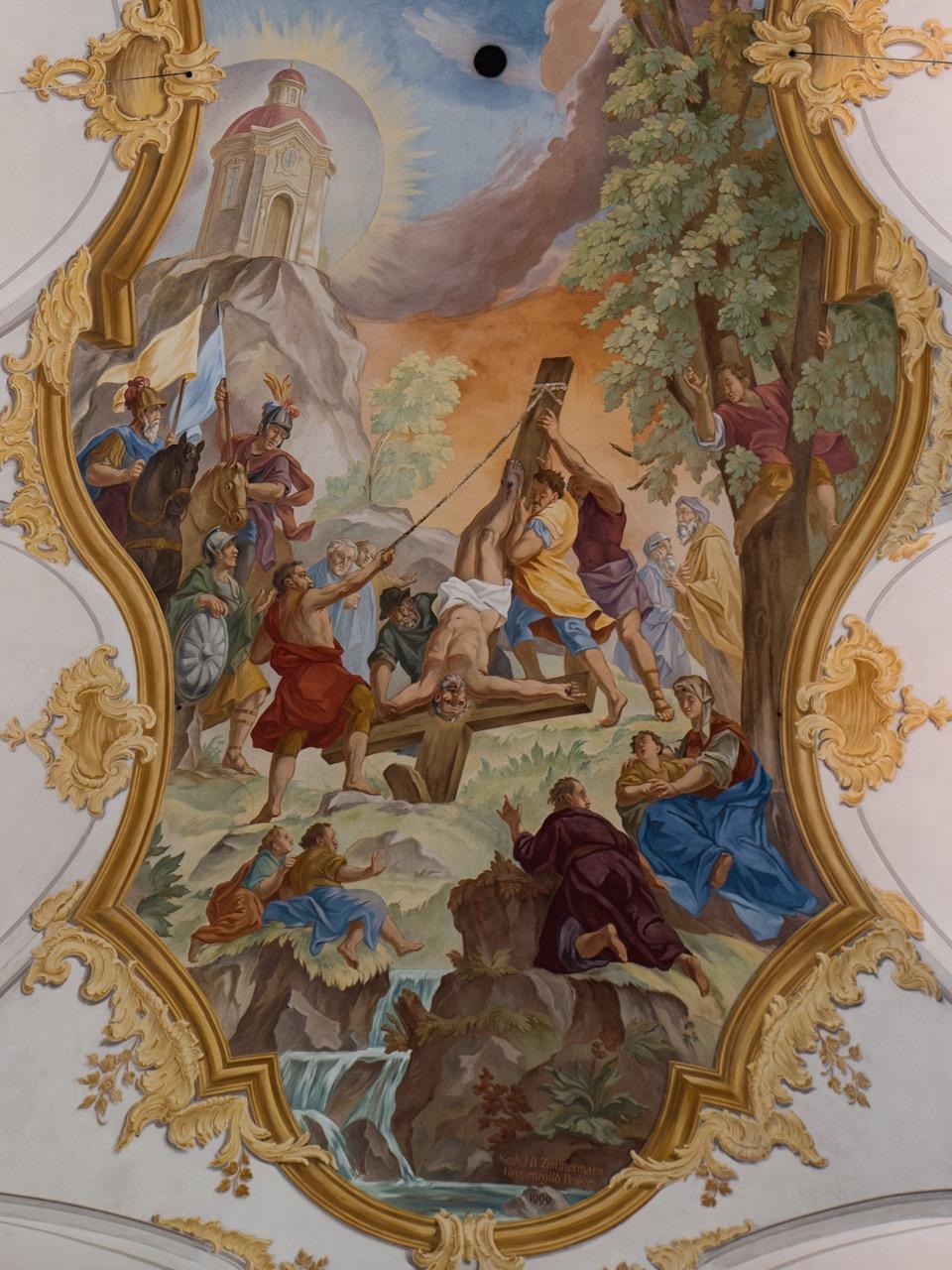 Fresko Langhaus, Detail