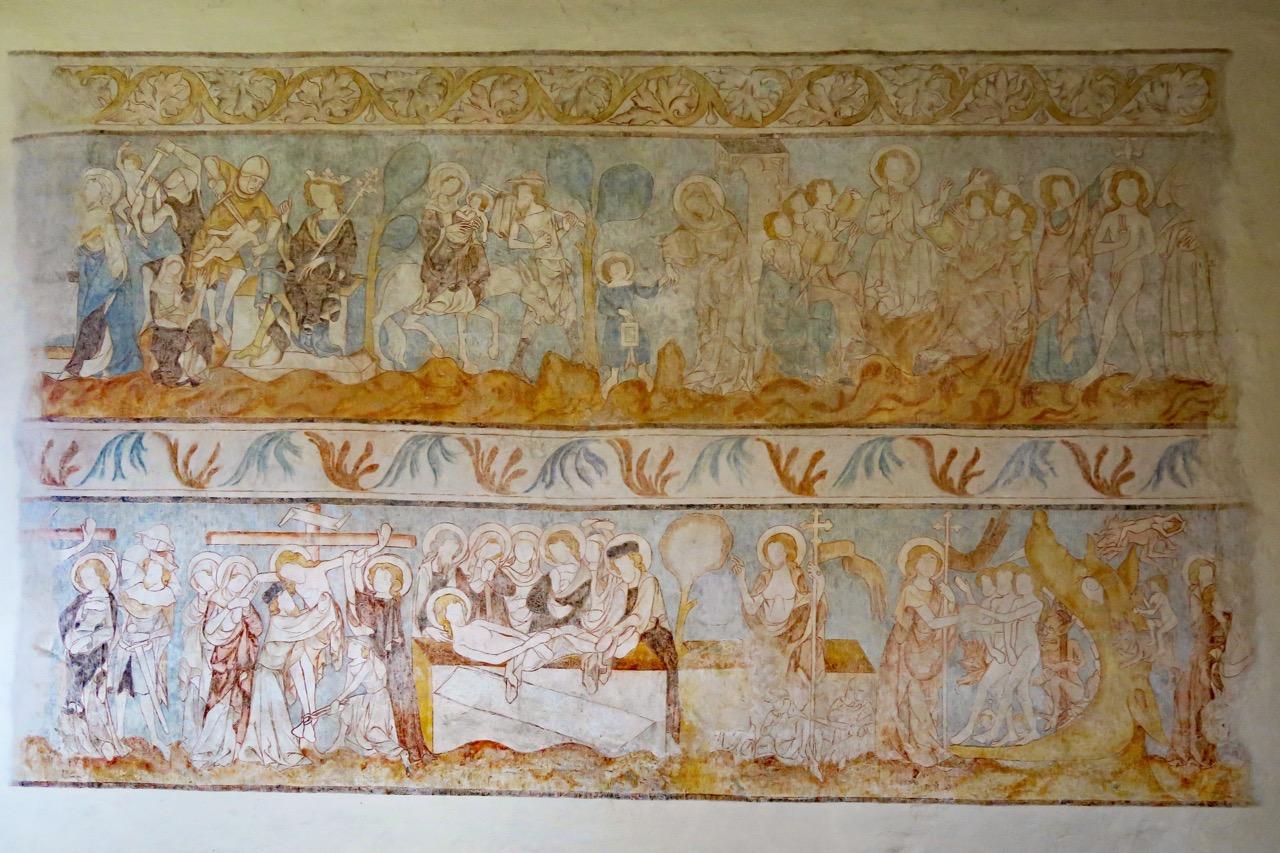 Langhausfresko mit Szenen aus dem Leben Jesu (14. Jh.)