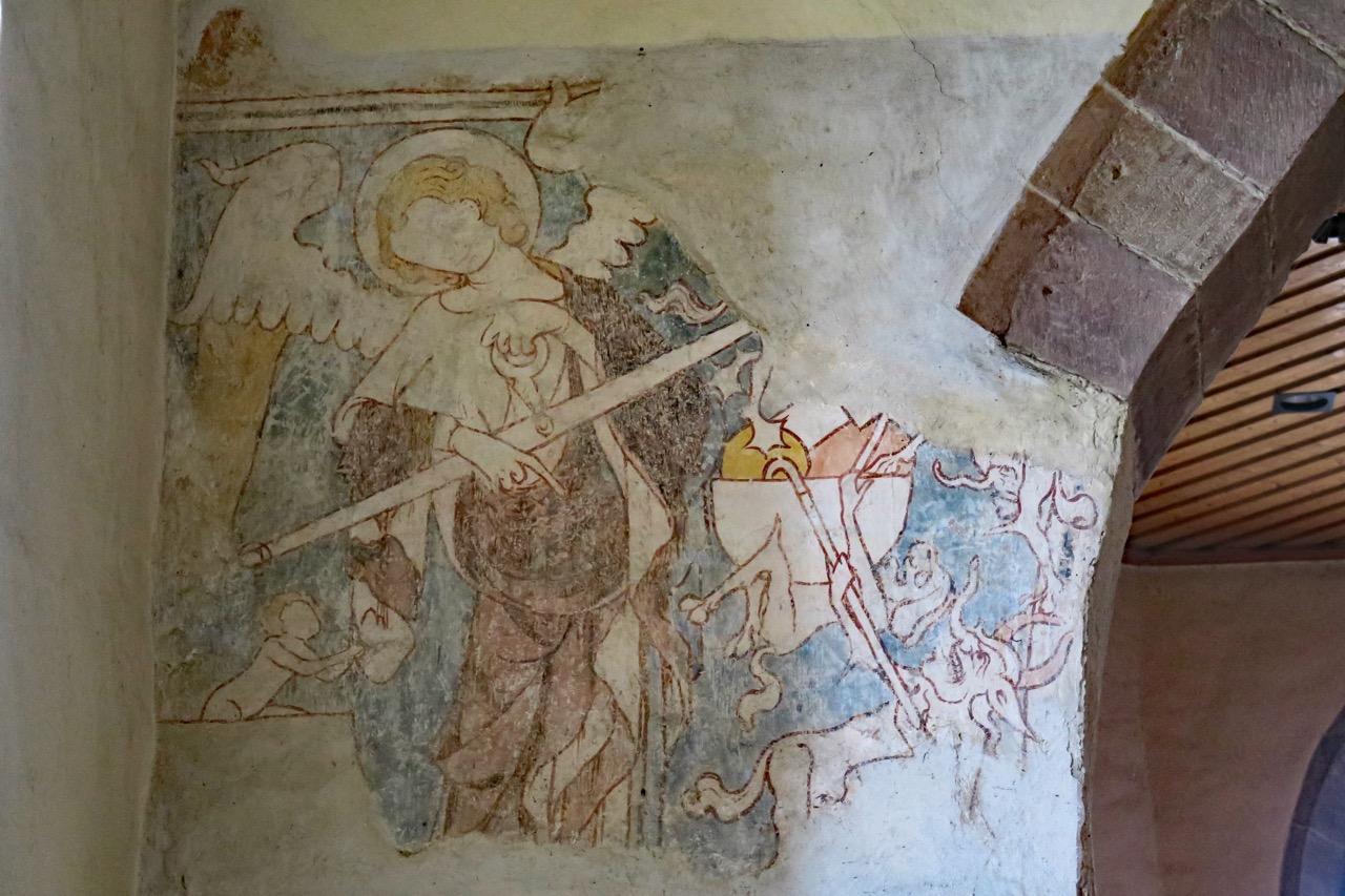 """Fresko """"Michael, der Seelenwäger"""" (14. Jh.)"""