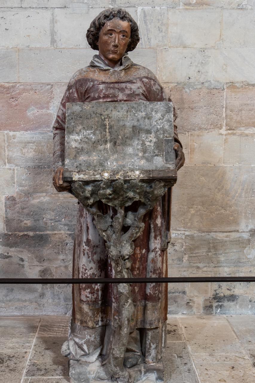 Atzmann, Lesepult in Gestalt eines Diakons, Naumburger Meister, um 1250