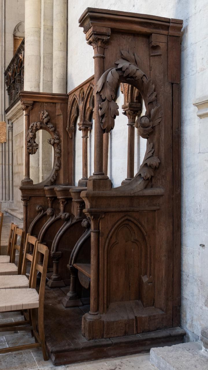 Frühgotischer Viersitz im Ostchor, um 1240