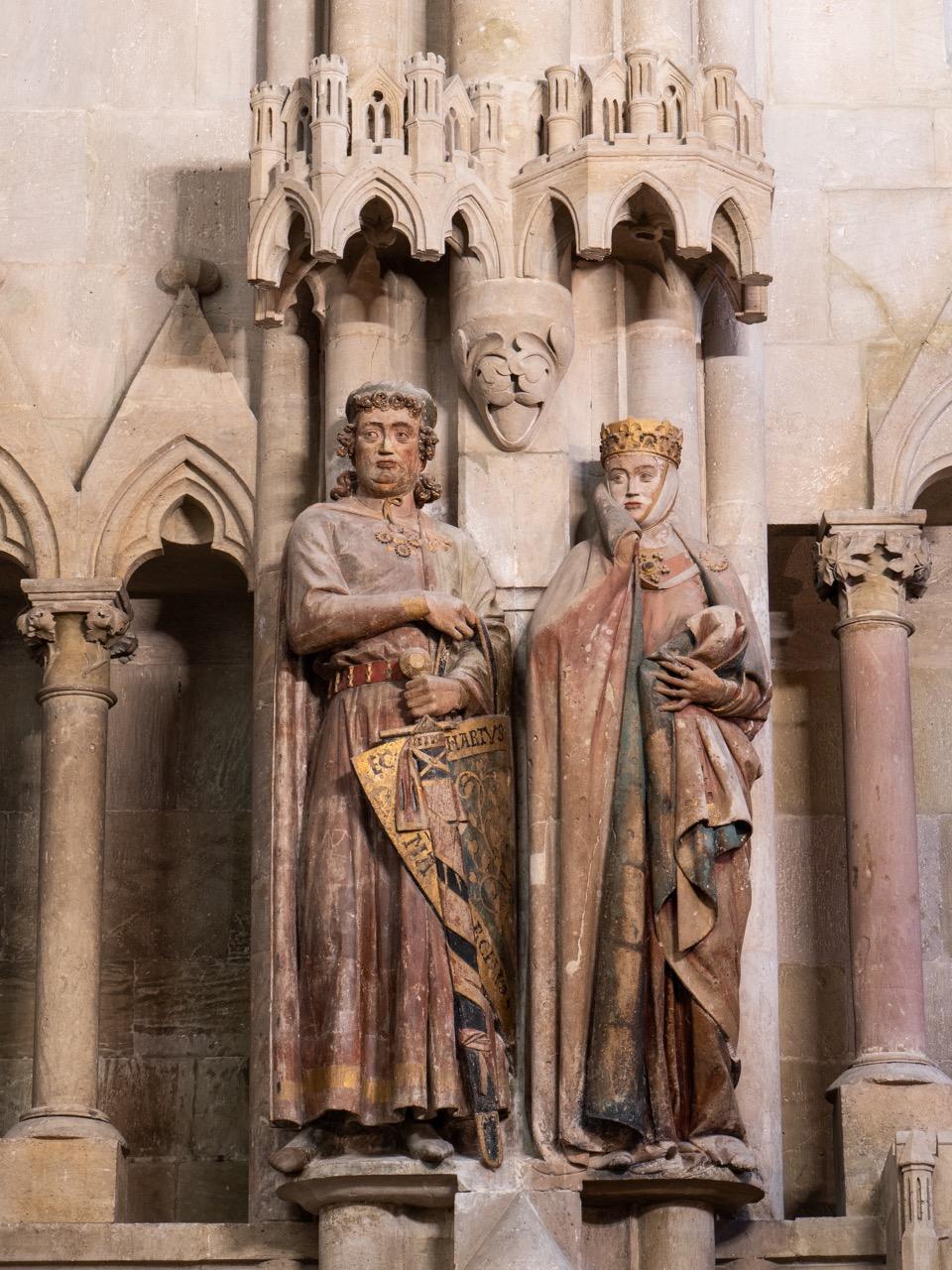 Stifterfiguren Uta und Ekkehard (jüngerer Bruder von Hermann und sein Nachfolger als Markgraf von Meißen)