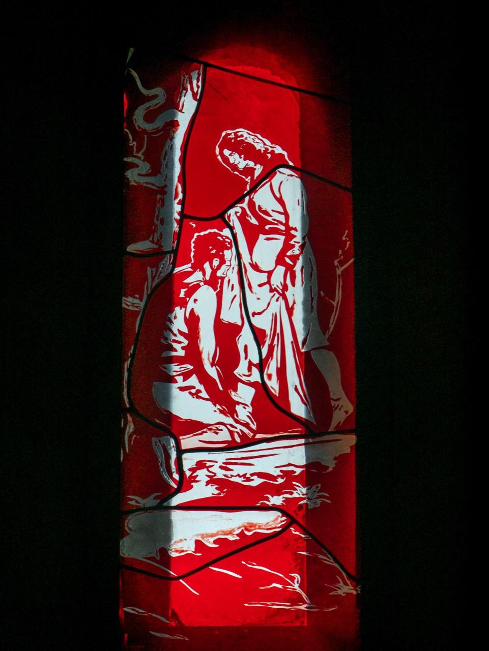 Elisabethkapelle, Fenster Neo Rauch, 2007