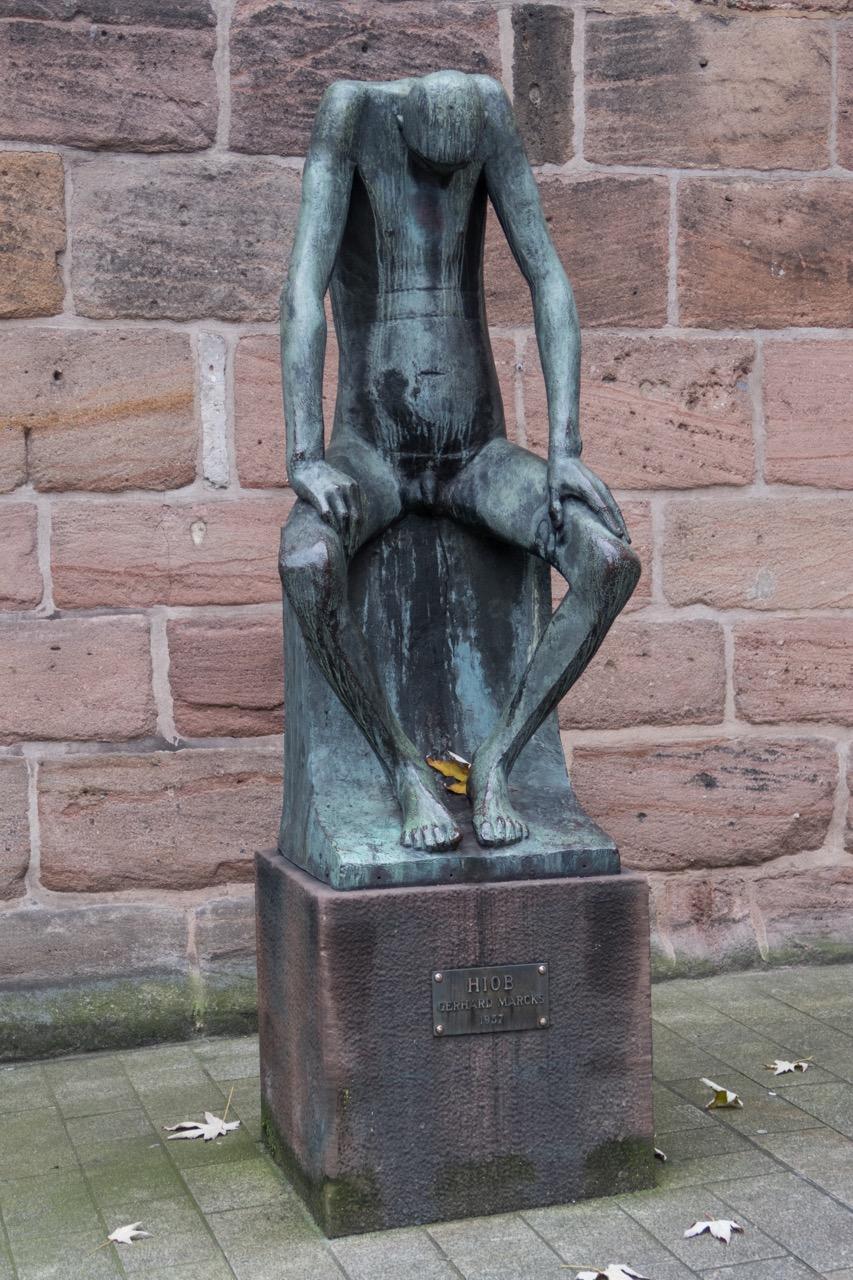 "Bronzeplastik ""Hiob"" von Gerhard Marcks, 1957"