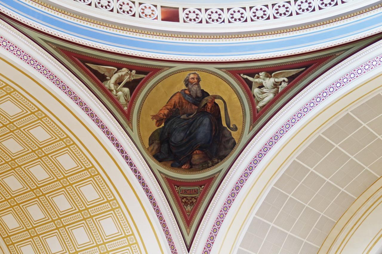 """Prophetenmedaillon """"Jesaja"""" unter der Tambourkuppel"""
