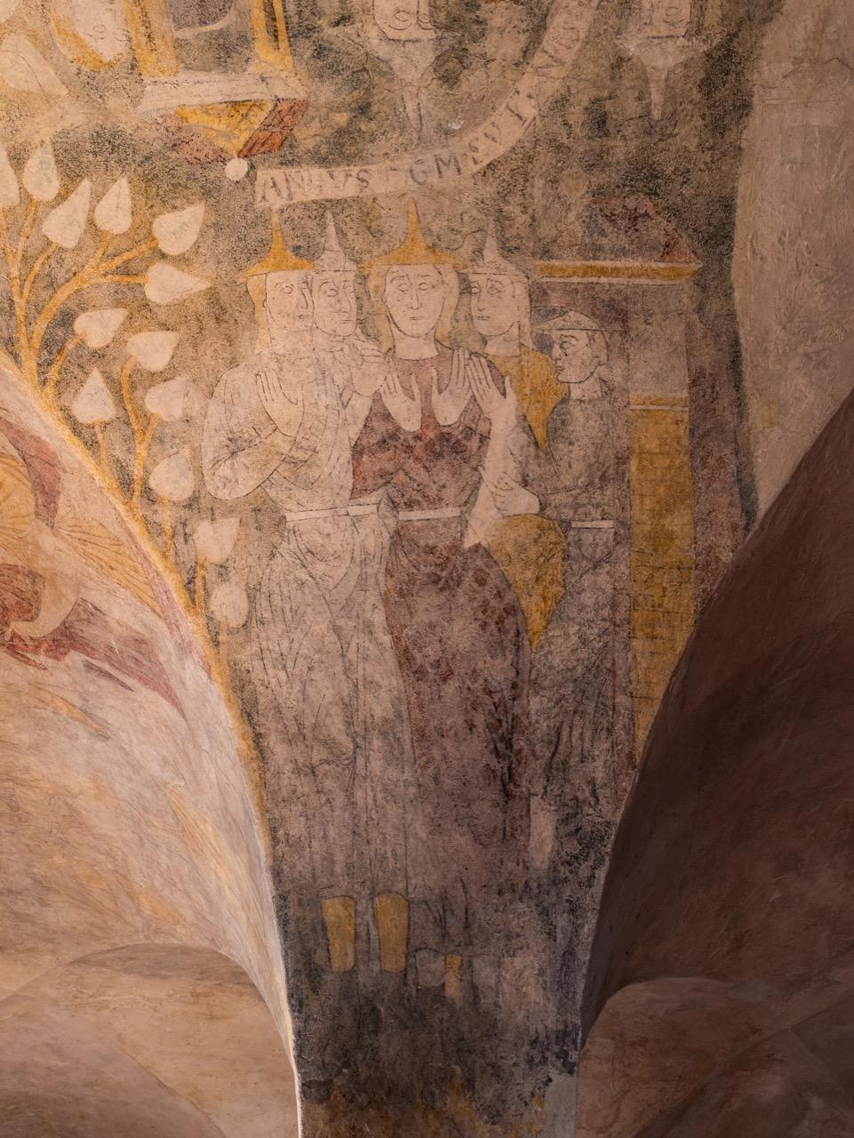Deckengemälde in der Krypta (spätes 12. Jh.)