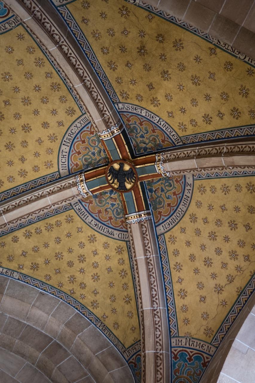 Gewölbe über dem Taufstein