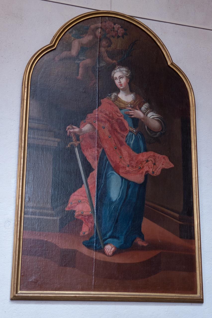 Barocke Altartafel mit Abbildung der hl. Rufina