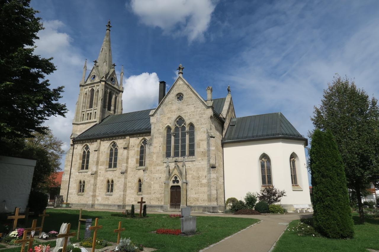 St. Galluskirche, Außenansicht von Süden