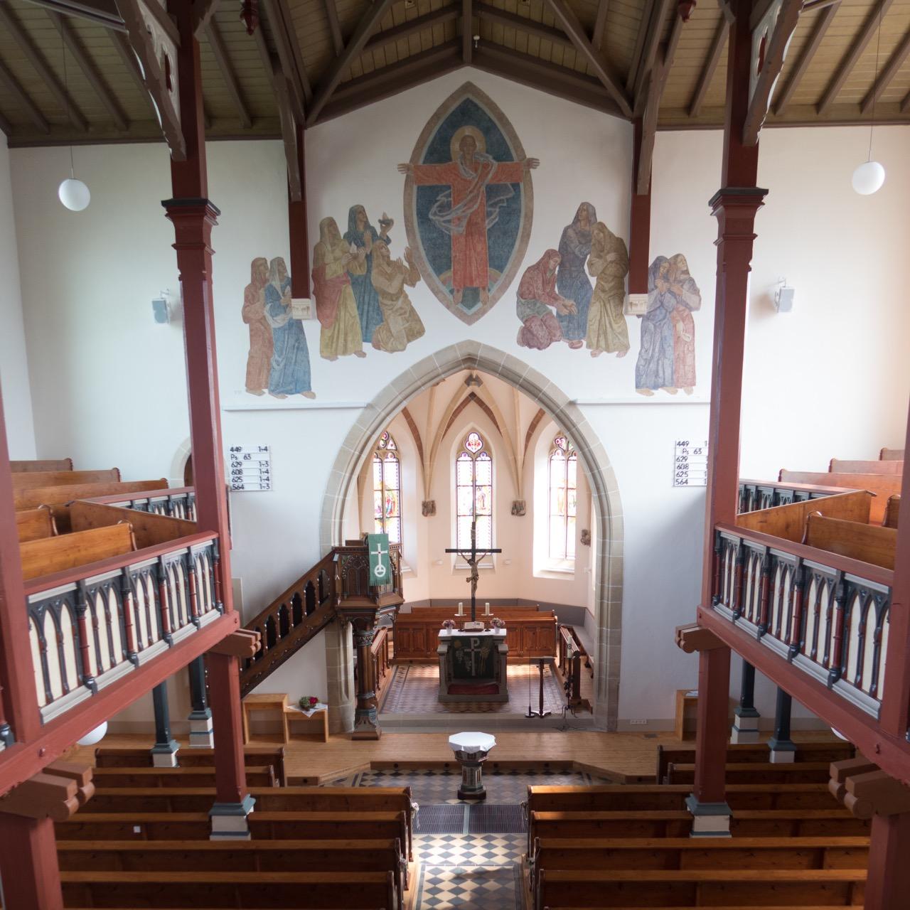St. Galluskirche, Innenansicht
