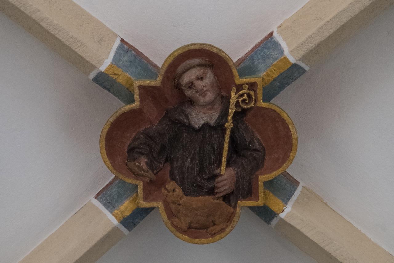 Schlussstein im Chorgewölbe (Gallus)