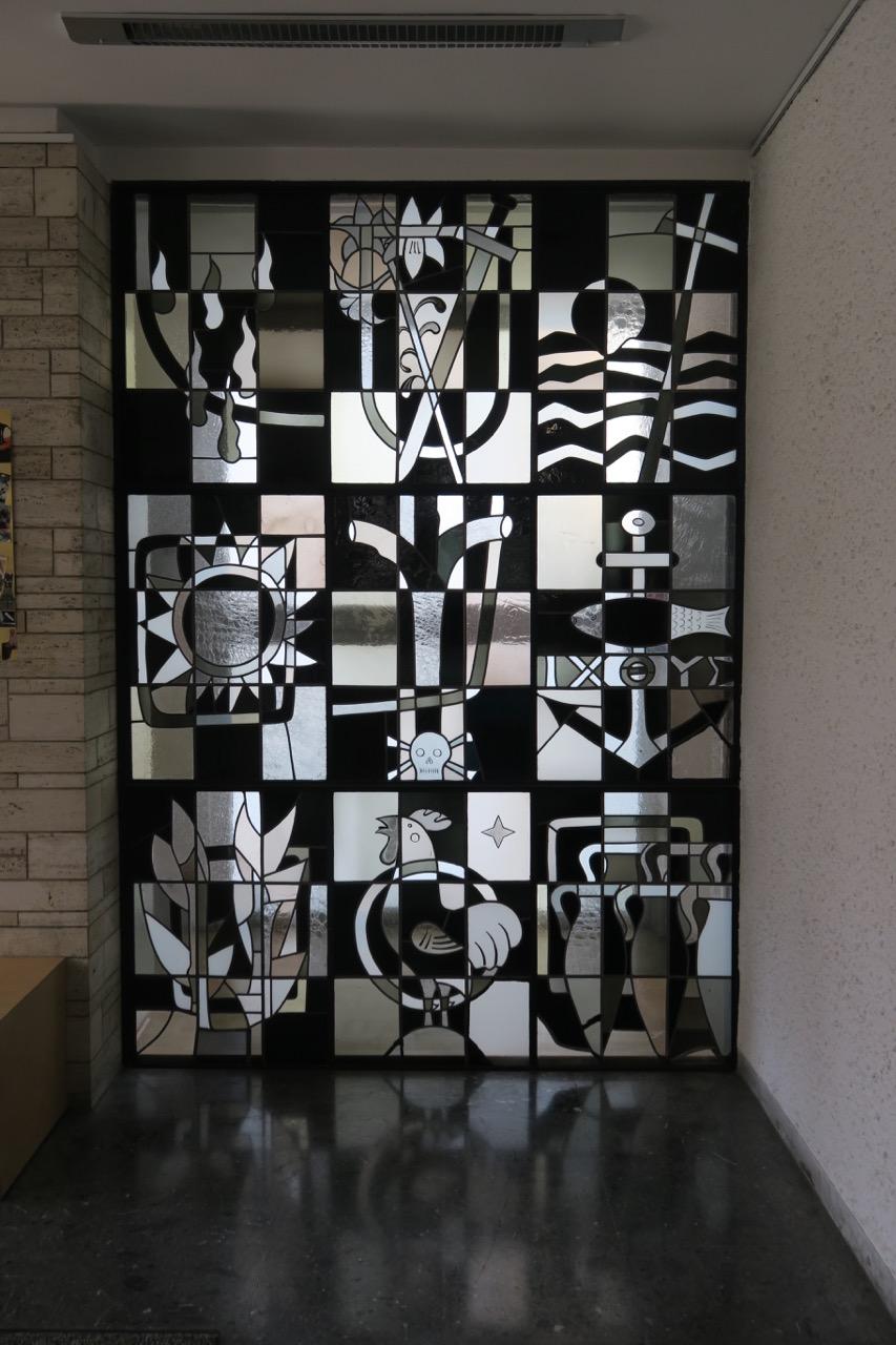 Glasfenster in der Vorhalle (Werner Oberle, 1960)