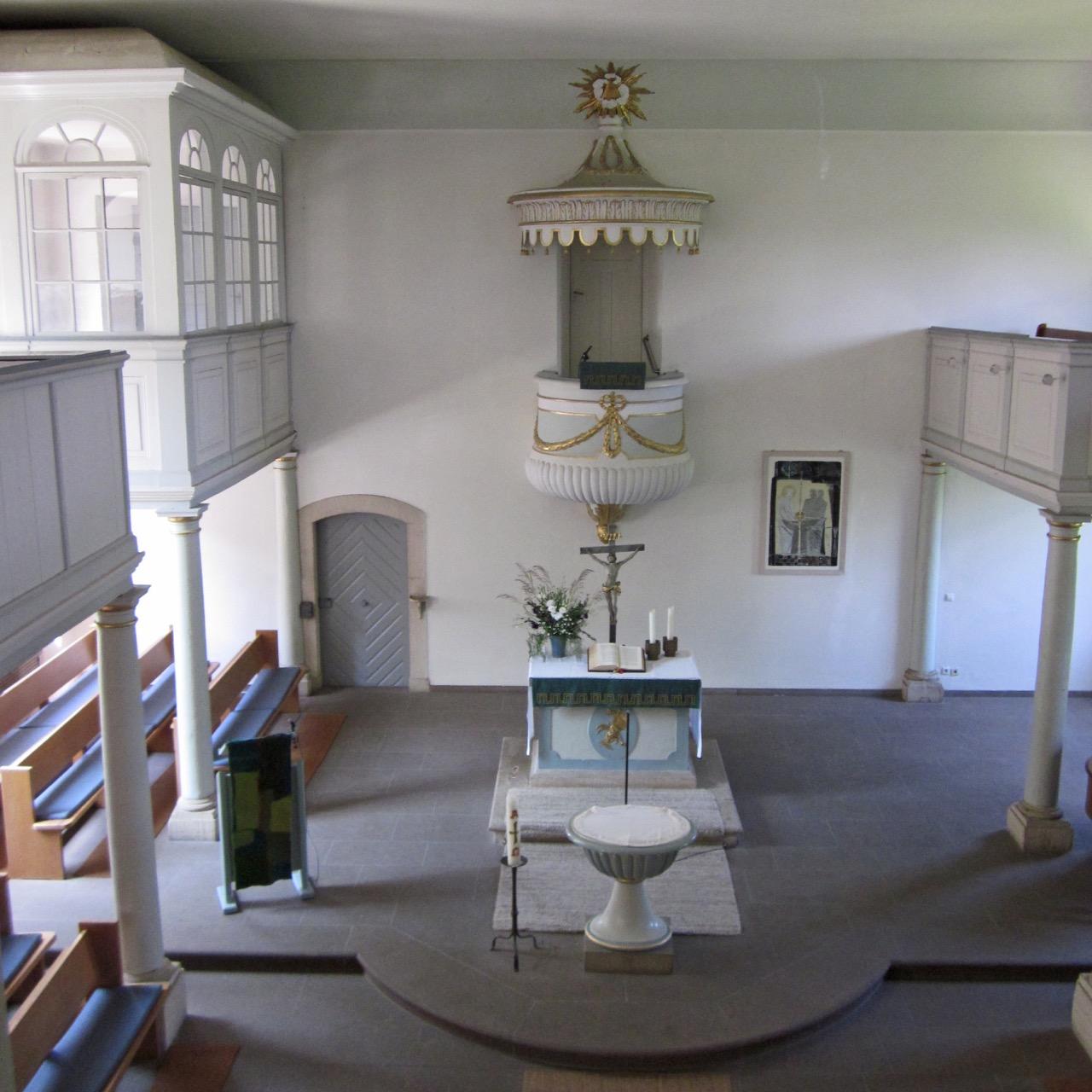 Franziskakirche, Innenansicht von der Empore