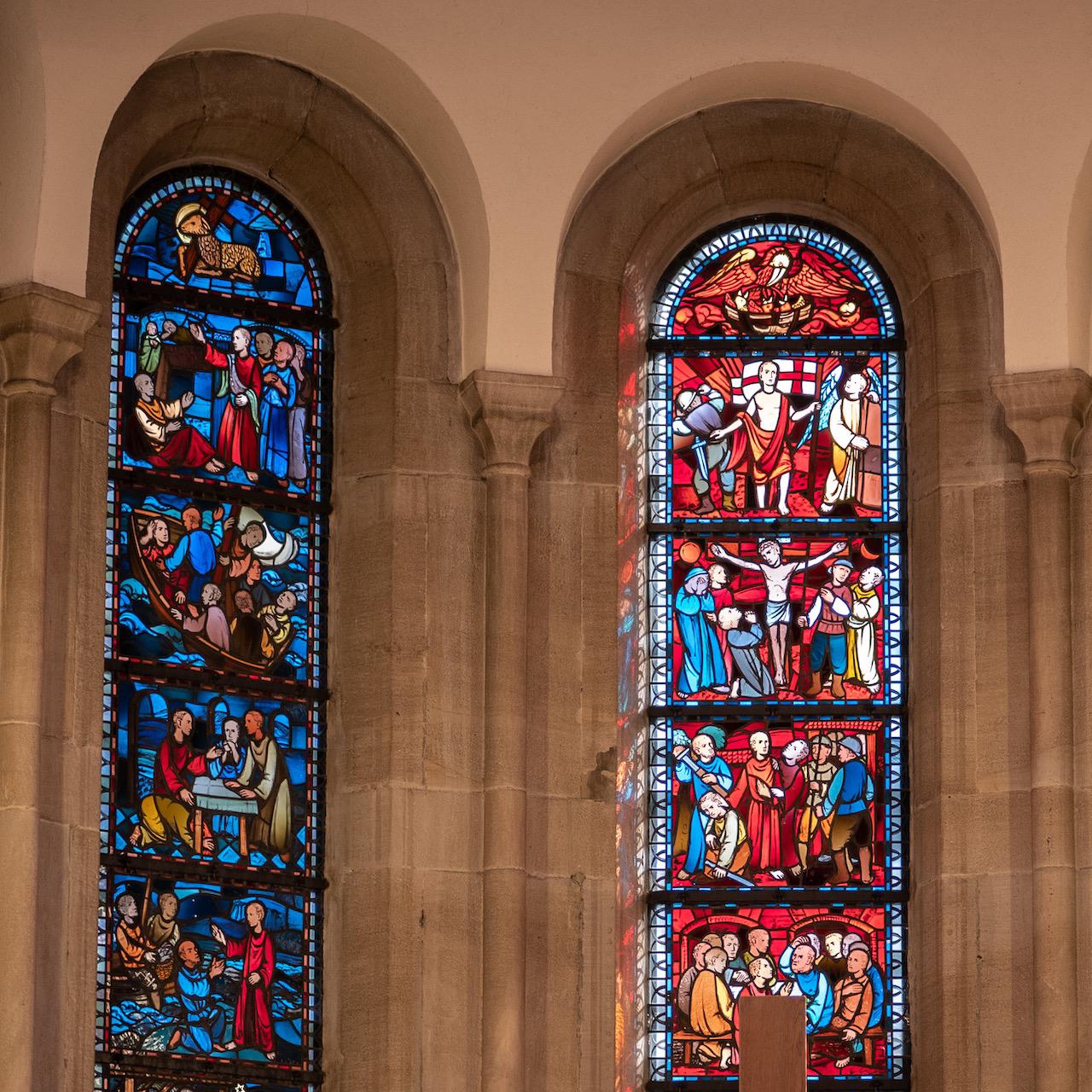 Chorfenster mit Szenen aus dem Leben Jesu (Walter Kohler, 1940/41)