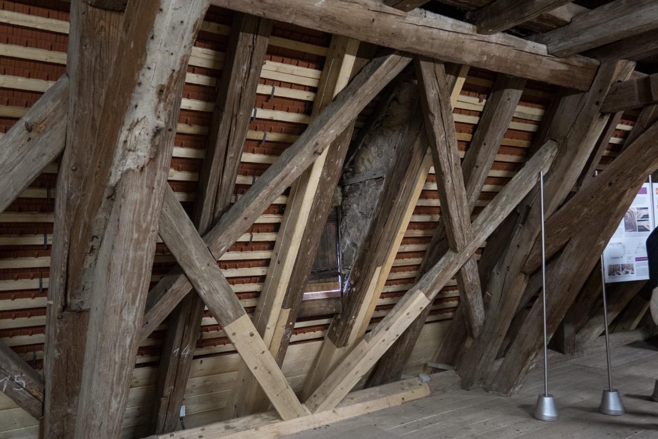 Instandsetzung des Dachstuhls (2013–2015)