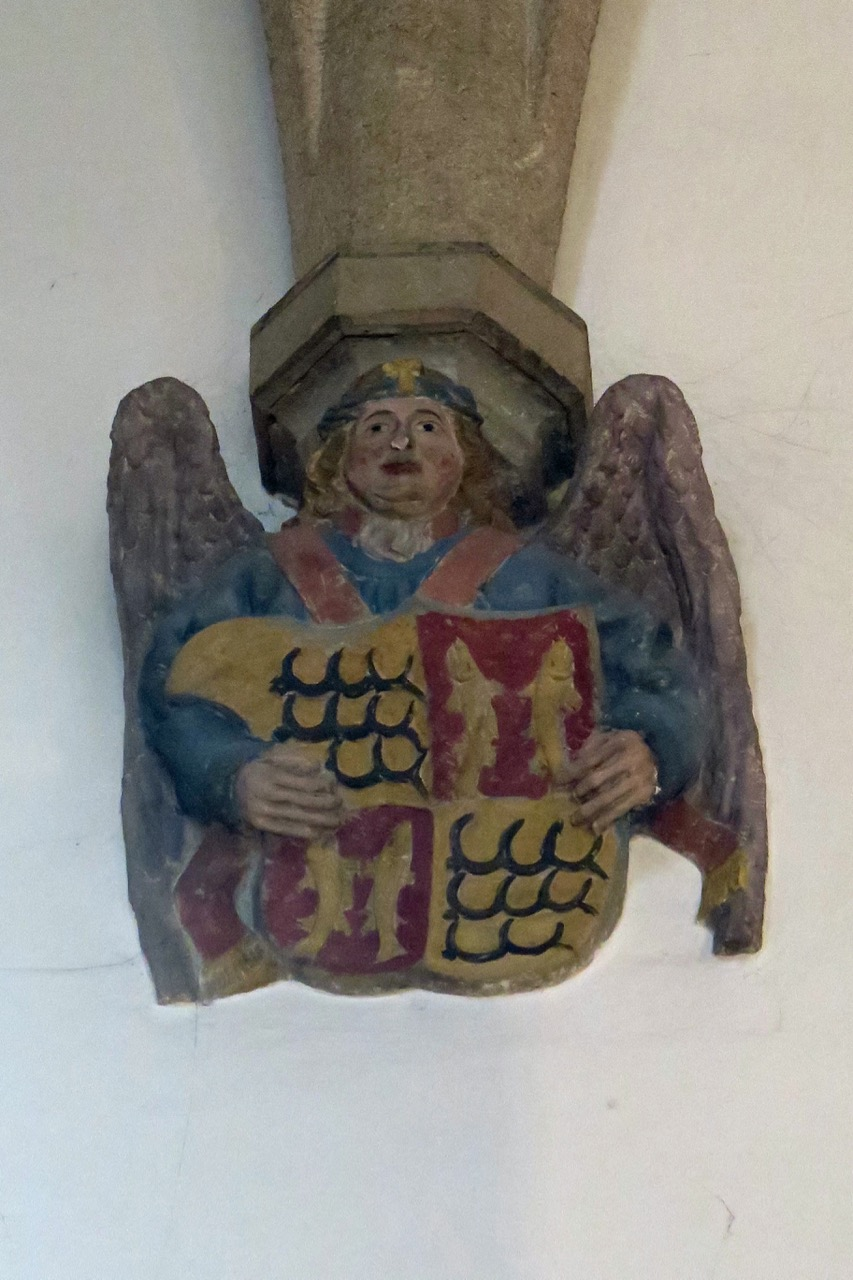 Konsolstein im Chor (Wappen der Grafschaft Württemberg)