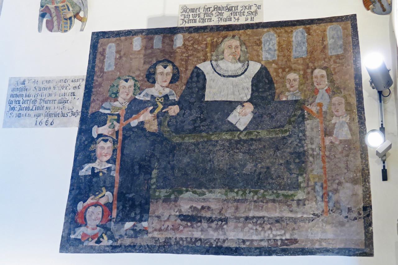 Wandbild im Chor (17. Jh.)