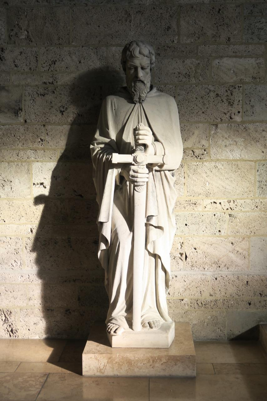 Paulusstatue aus der Vorgängerkirche