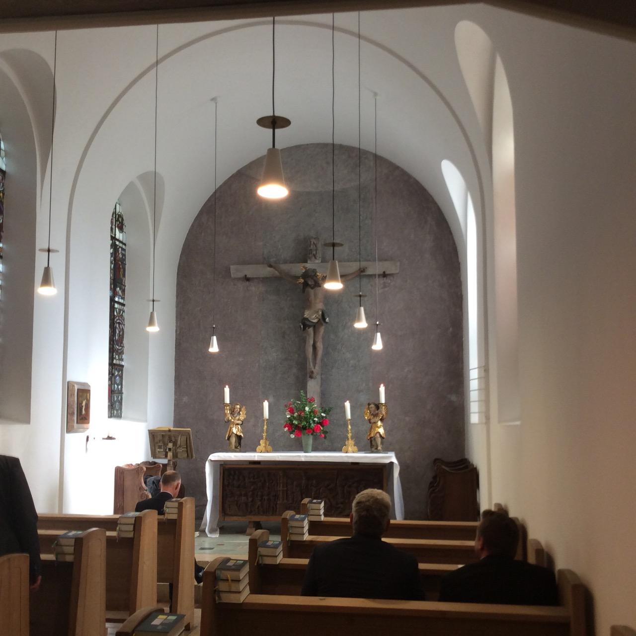 Kapelle der evang. Akademie Tutzing, Innenansicht
