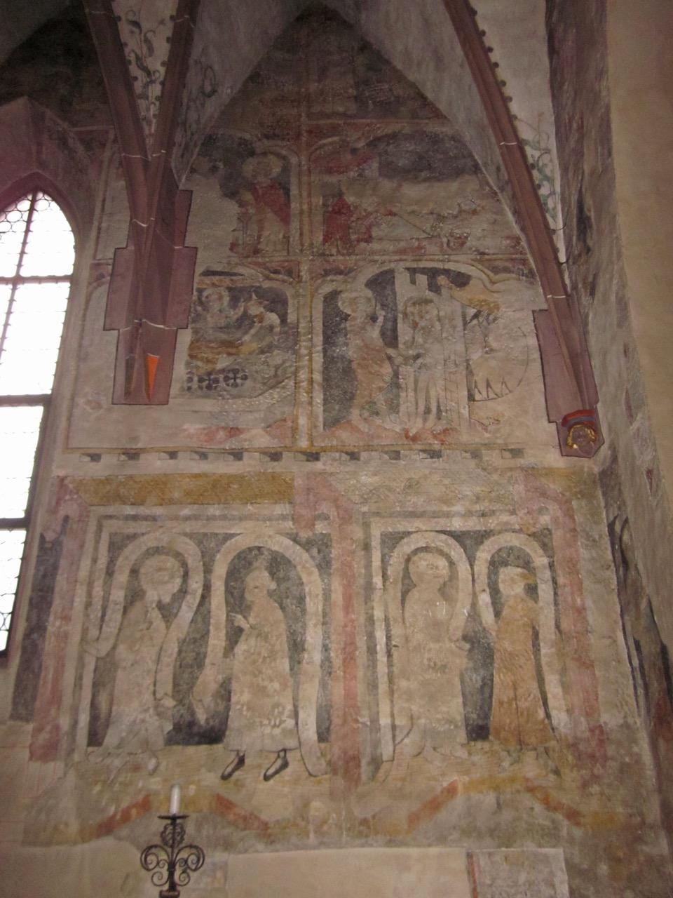 Fresken im gotischen Chor, 14. Jh.