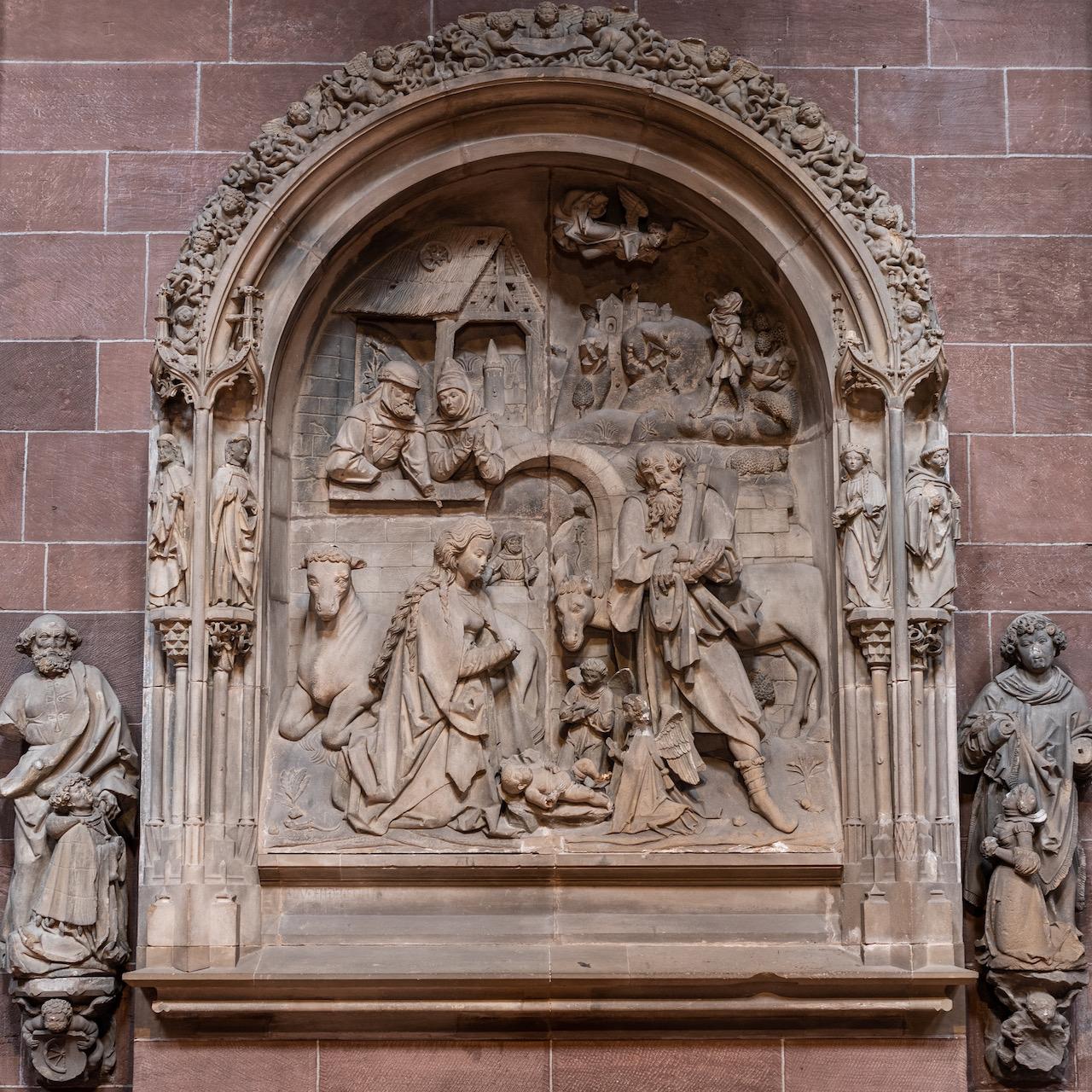 "Relief ""Geburt Jesu"" (1515; ursprünglich im Kreuzgang)"