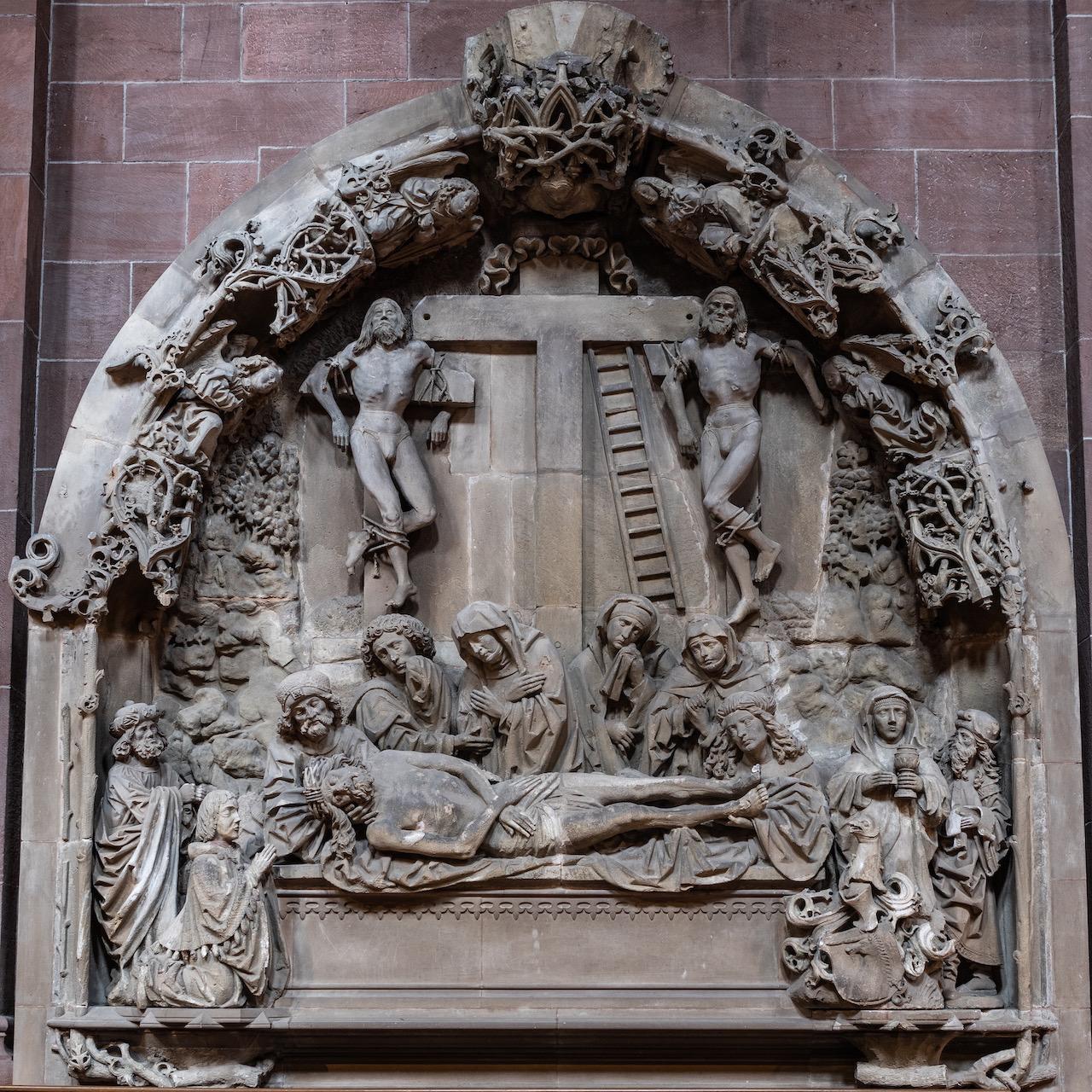 """Relief """"Grablegung Jesu"""" (1488/91; ursprünglich im Kreuzgang)"""