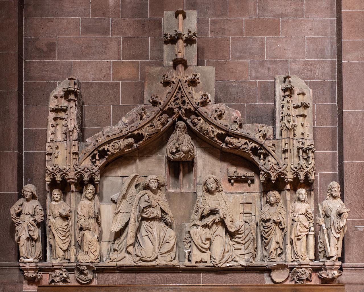 "Relief ""Verkündigung"" (1487; ursprünglich im Kreuzgang)"