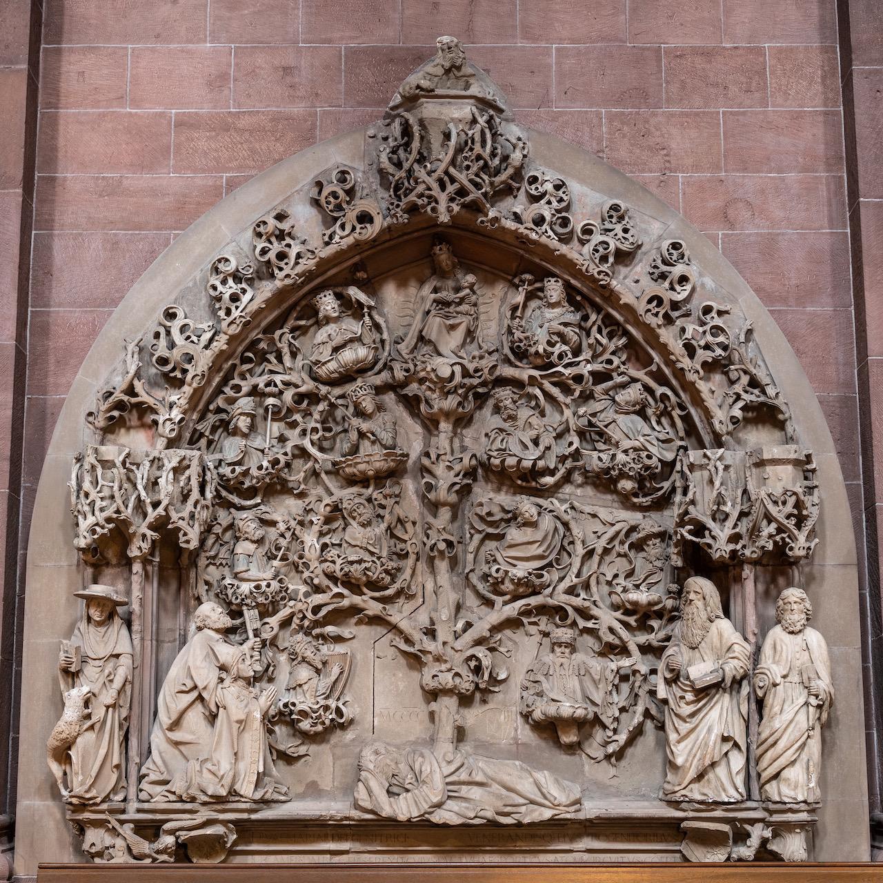 """Relief """"Wurzel Jesse"""" (1488; ursprünglich im Kreuzgang)"""