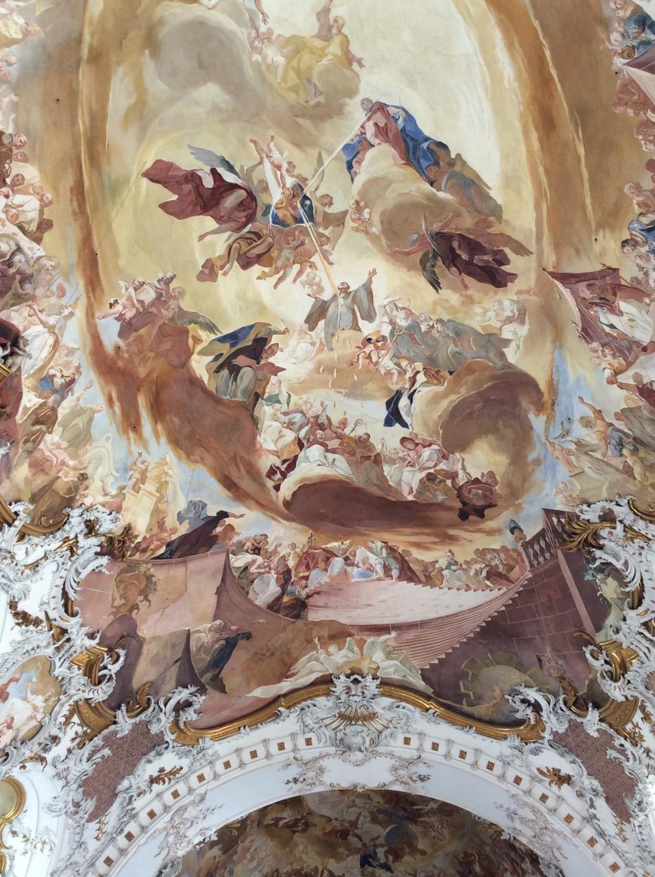 Deckenfresko mit Motiven aus dem Leben Marias (Franz Joseph Spiegler)