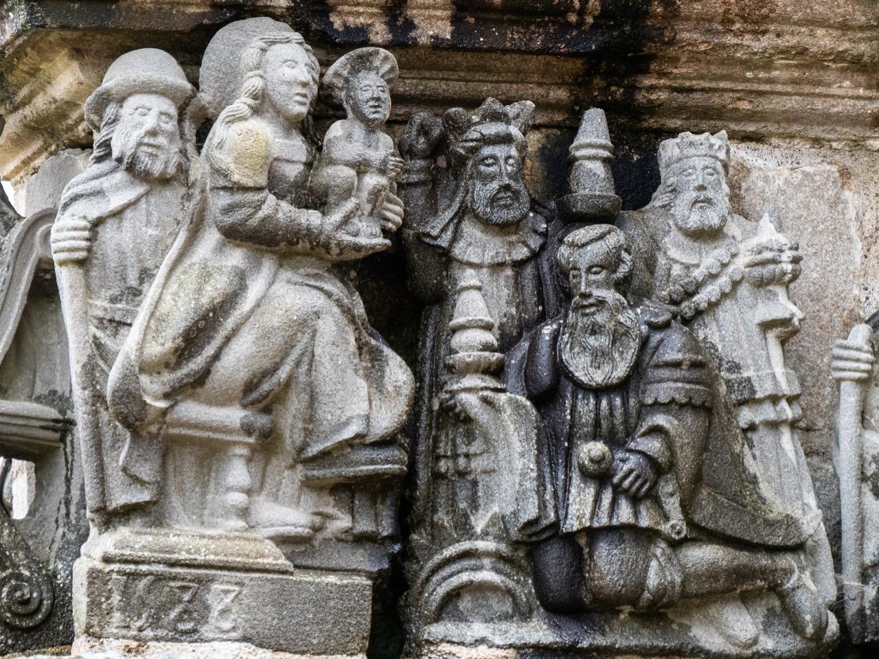 Calvaire, Ostseite, Anbetung der hl. drei Könige