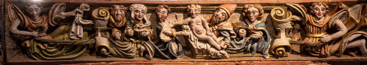 """Fußpfette (""""sablière""""), Jesu Beschneidung"""