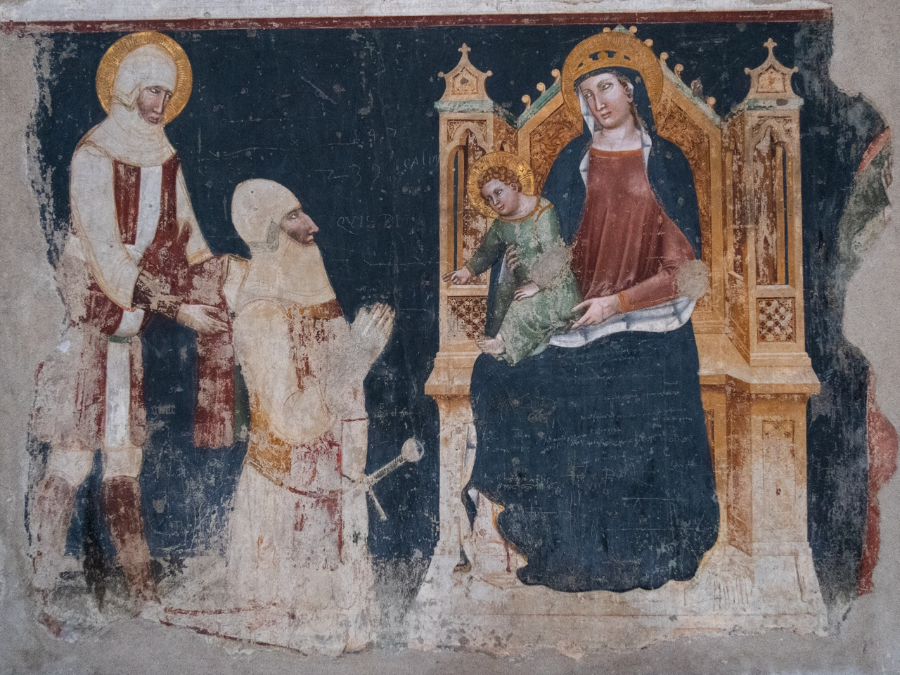 Fresko des sog. zweiten Meisters von San Zeno (Mitte 14. Jh.)