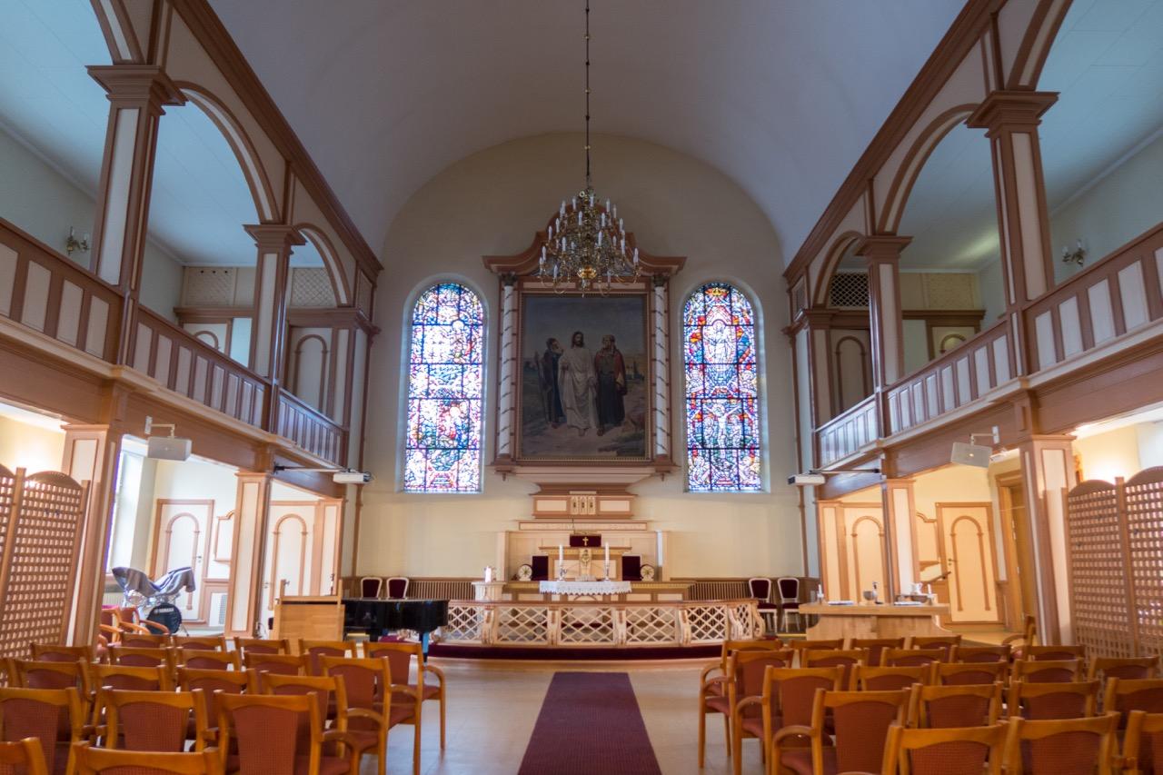 Methodistische Kirche Grünerløkka, Innenansicht