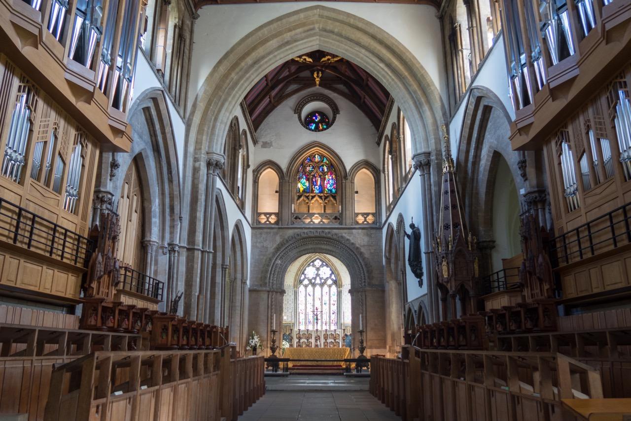 Choir (choir stalls by George Pace, 1964; organ case by Simon Platt, 2010)