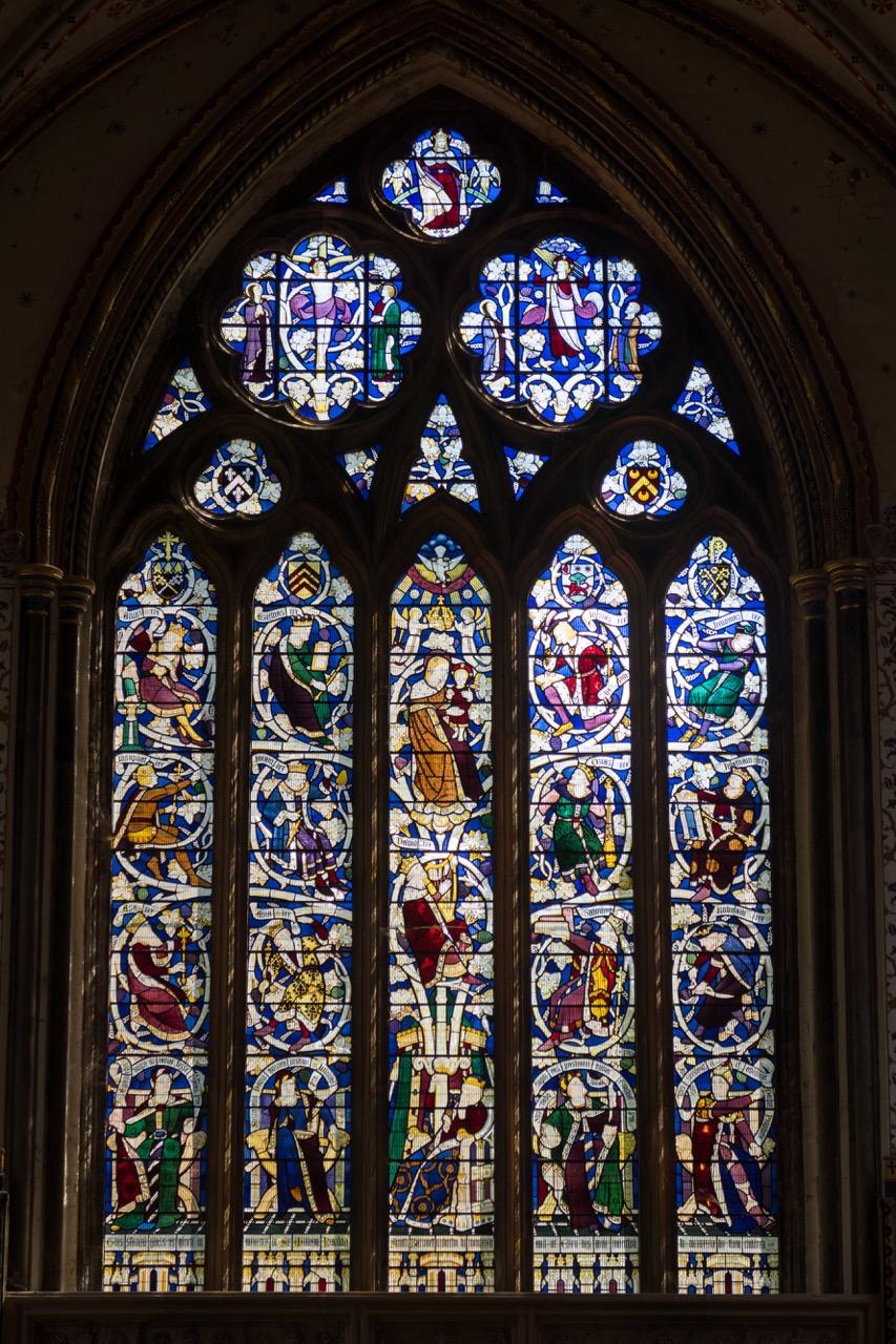 East window in the Lady Chapel (Geoffrey Webb, 1951)