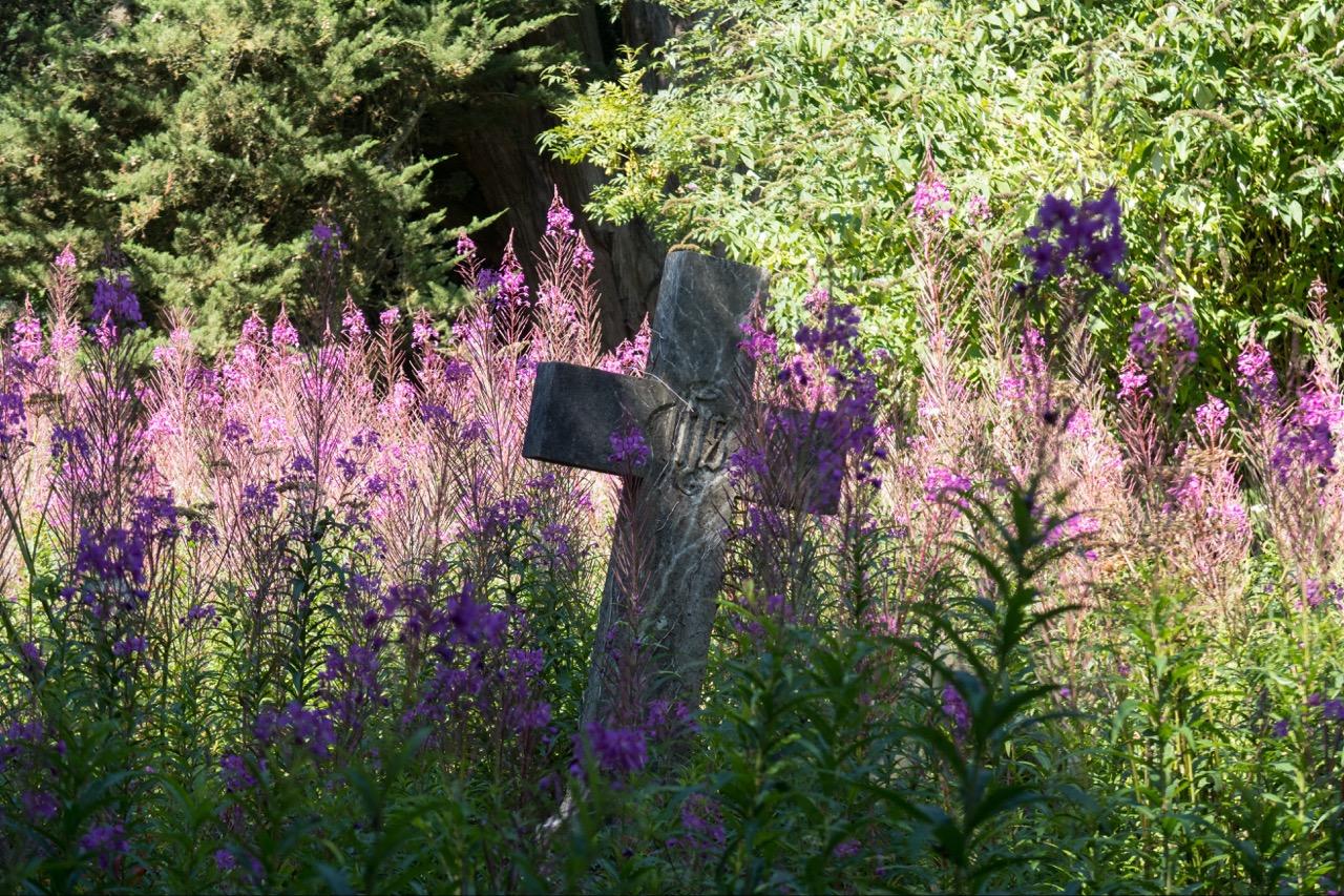 Cross in the churchyard