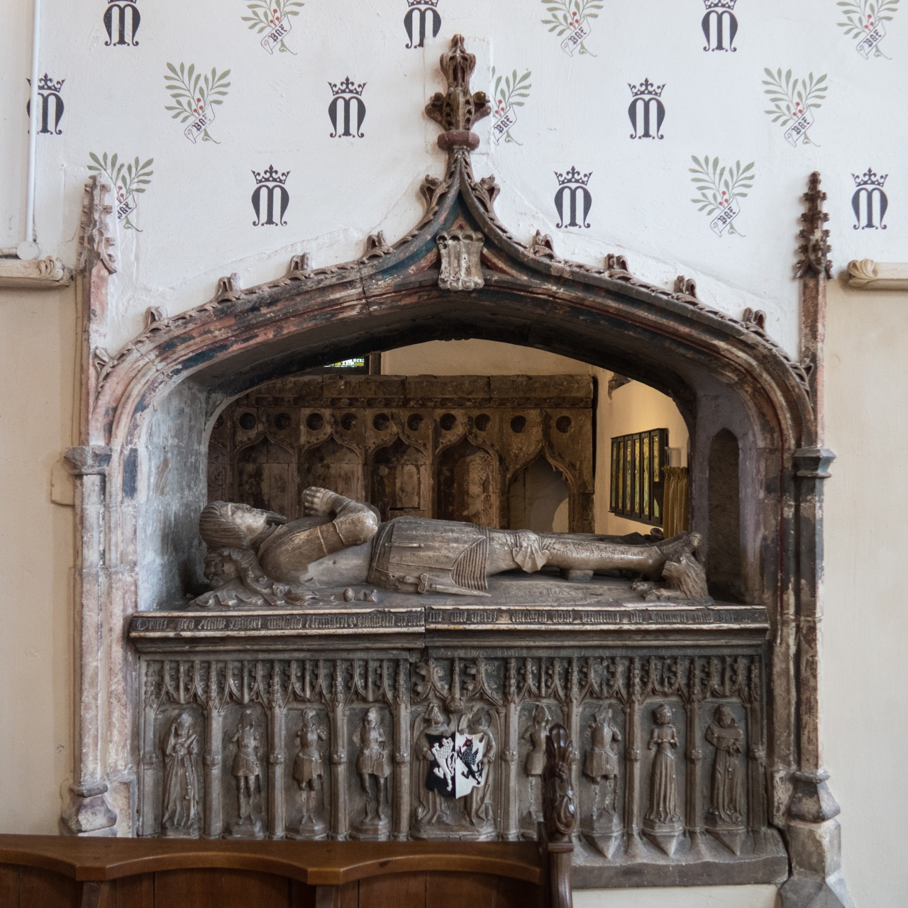 Monument for Bishop Marshall (d. 1496)