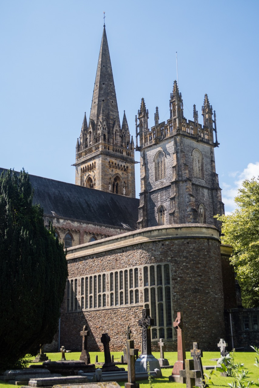 View from the north east with the Royal Welsh Chapel