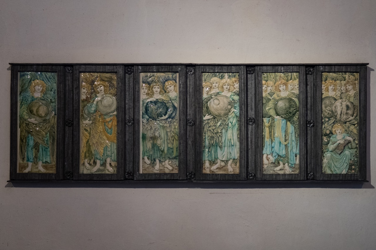 "Ceramic relief ""The Six Days of Creation"" (design Edward Coley Burne-Jones, 1893)"