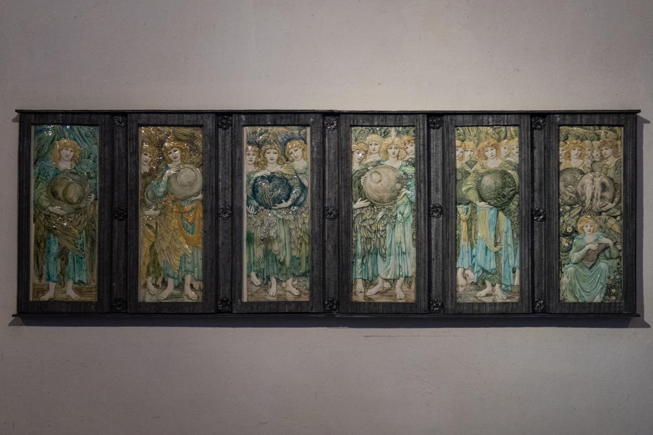 "Ceramic relief ""The Six Days of Creation"" (design Edward Coley Burne-Jones, 1893)"