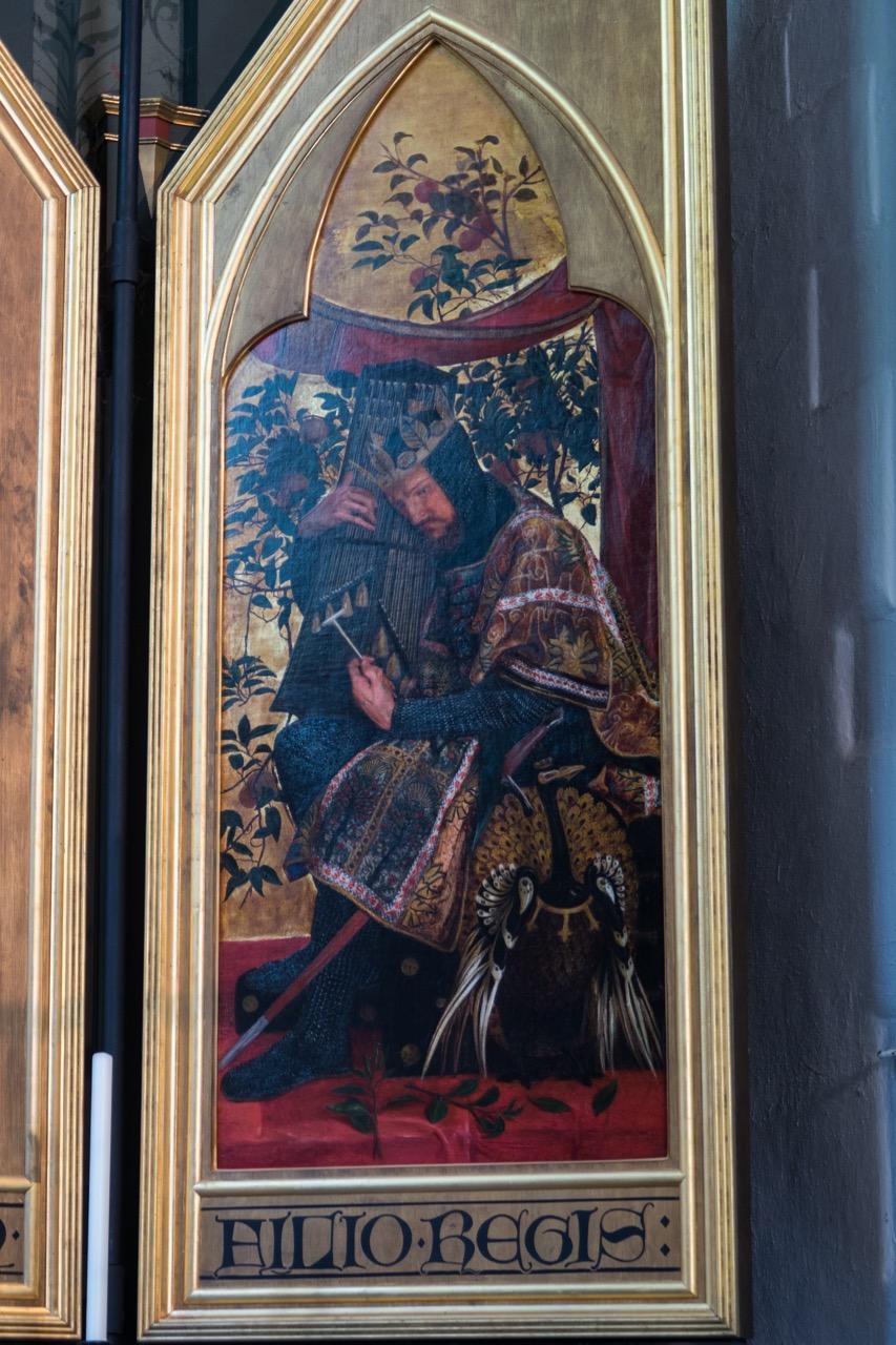 """Triptychon, detail """"King David"""" (Dante Gabriel Rossetti, 1864)"""