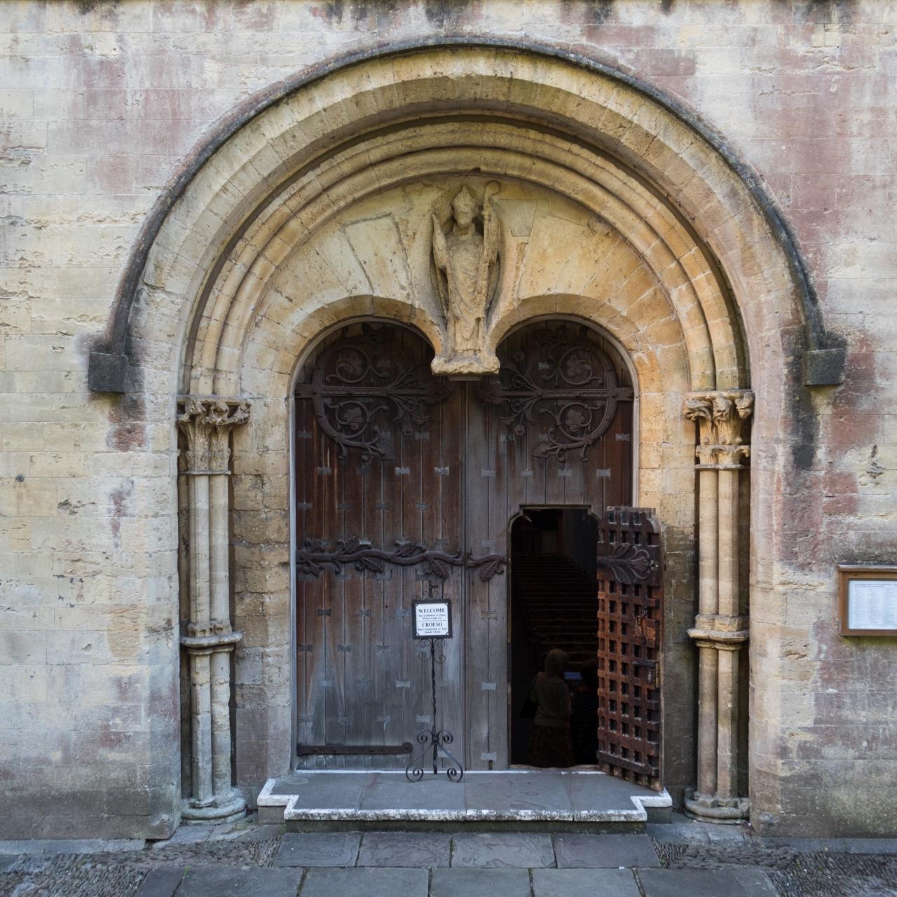 Romanesque west portal