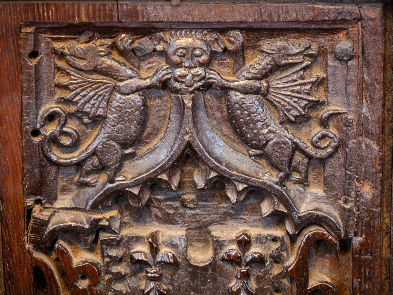 Choir stalls (15th cent.), detail